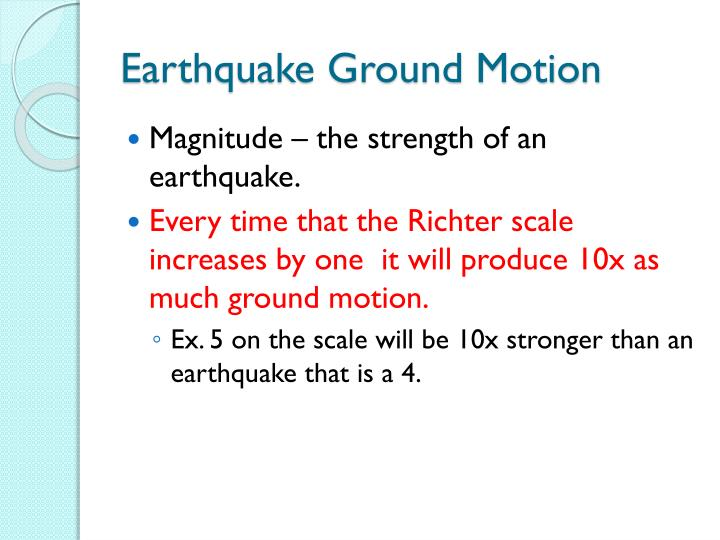 Earthquake Ground Motion