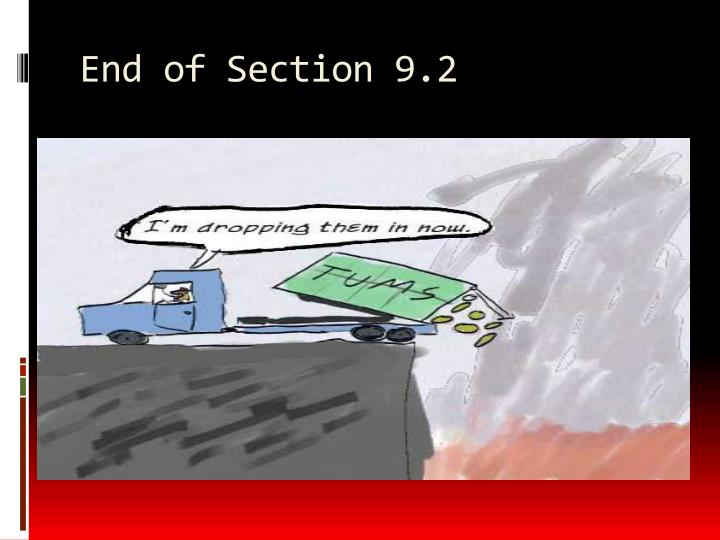 End of Section 9.2