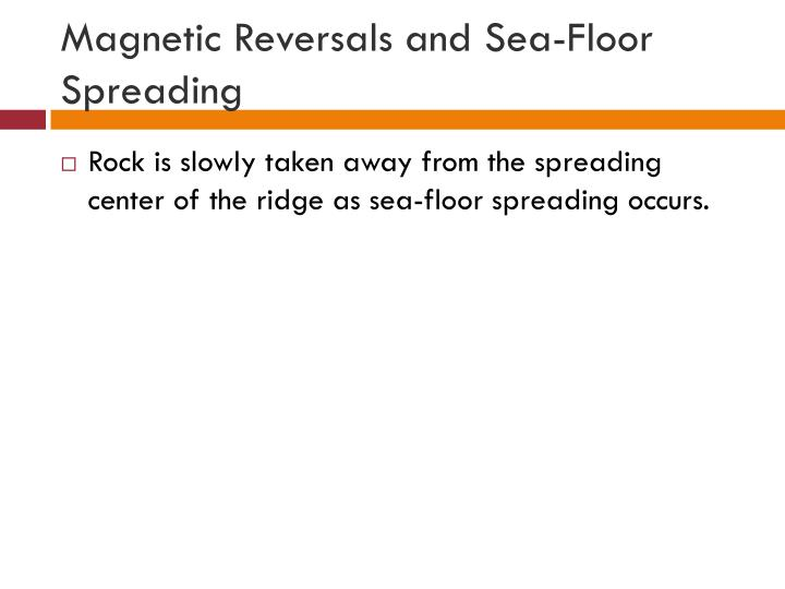 Magnetic Reversals and Sea-Floor Spreading
