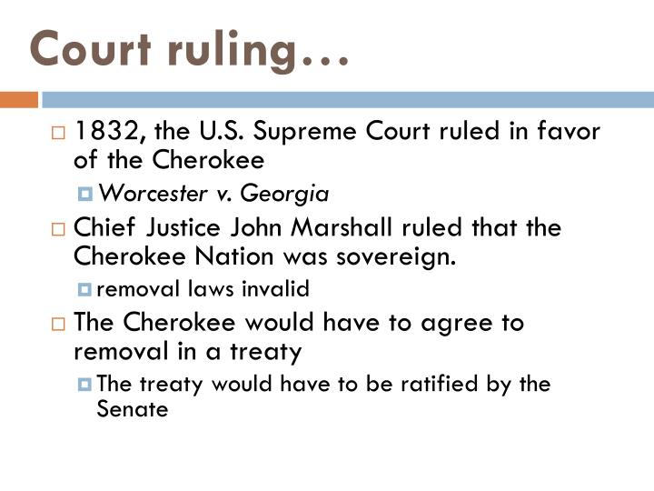 Court ruling…
