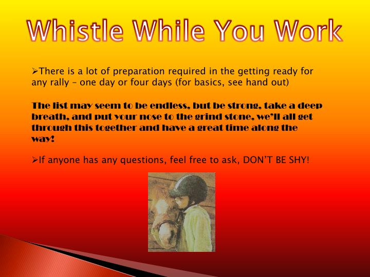 Whistle While You Work