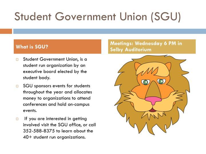 Student government union sgu