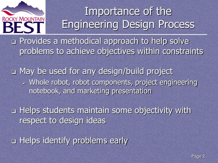 Importance of the engineering design process