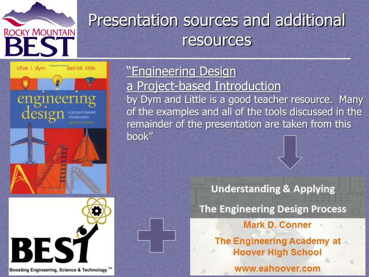 Presentation sources and additional resources