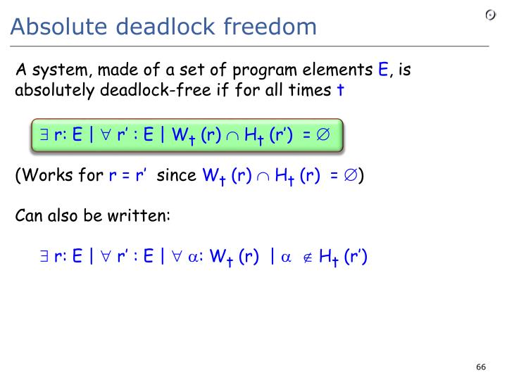 Absolute deadlock freedom