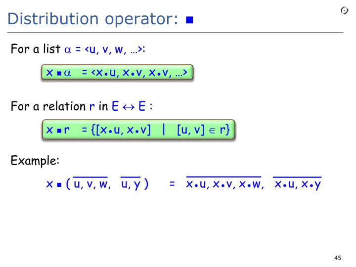 Distribution operator: