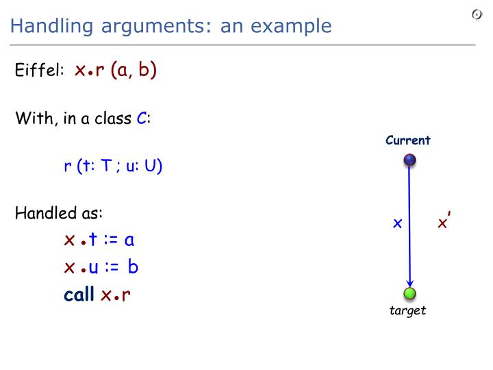 Handling arguments: an example