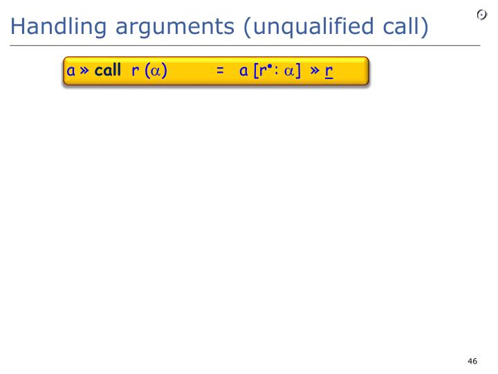 Handling arguments (unqualified call)