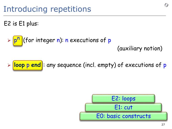 Introducing repetitions