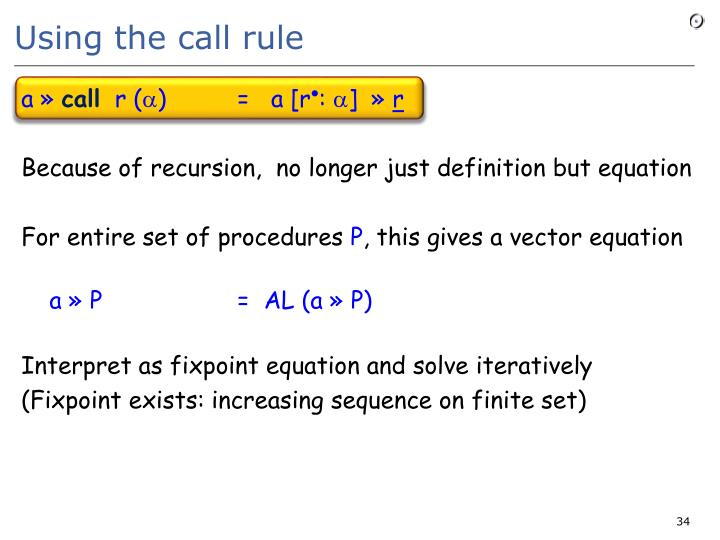 Using the call rule