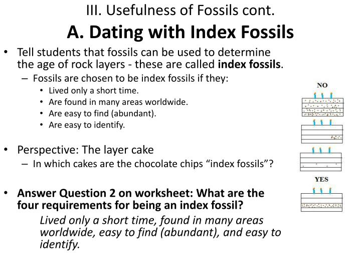 Index fossil dating worksheets