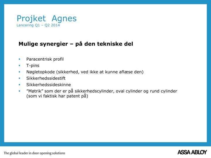 Projket agnes lancering q1 q2 20141