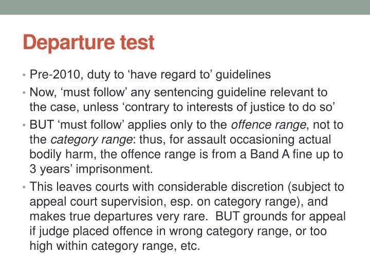 Departure test