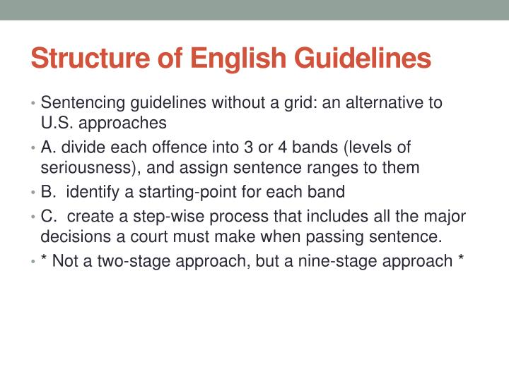 Structure of English Guidelines
