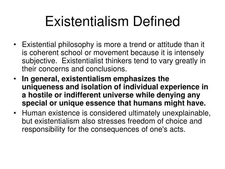 Existentialism Defined