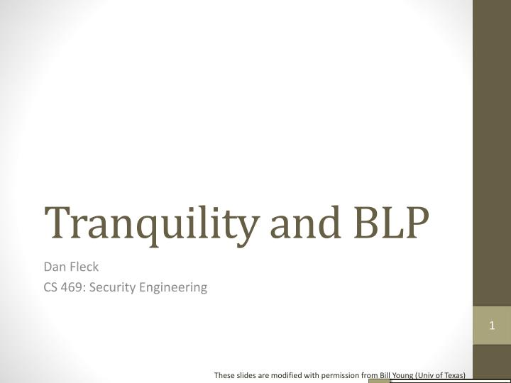 tranquility and blp n.