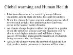 global warming and human health