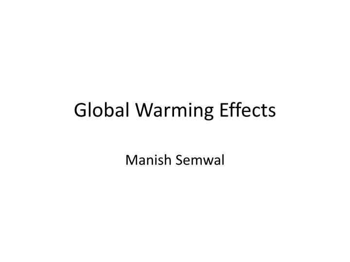 global warming effects n.