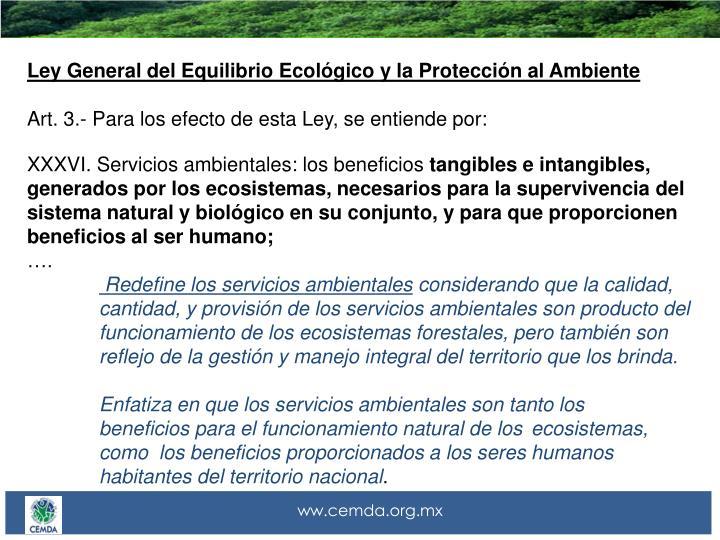 Ley General del Equilibrio Ecológico y la Protección al Ambiente
