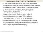 performance for p pb in run 2 and beyond
