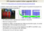 sps injection system kicker upgrade 100 ns