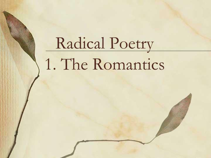imagination in romantic poetry Romantic imagination in wordsworth and romantic probabilism, define this romantic era all literature and poetry from this time period expresses at least one of.