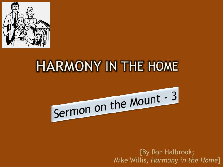 harmony in the home n.