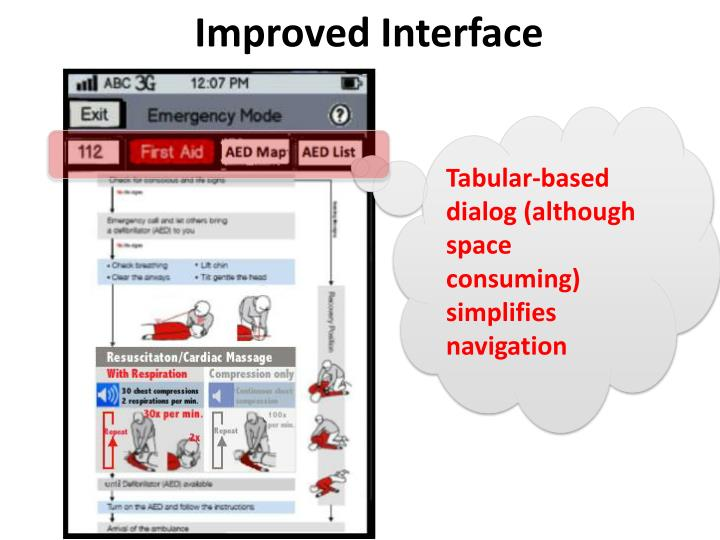 Tabular-based dialog (although space consuming) simplifies navigation