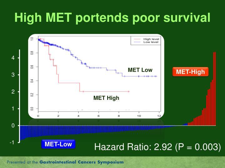 High MET portends poor survival