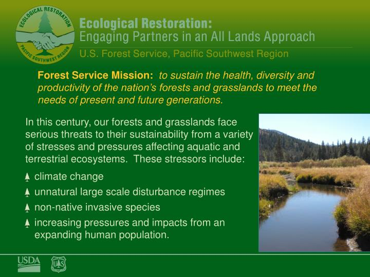 Forest Service Mission: