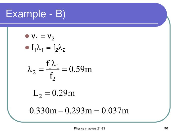 Example - B)