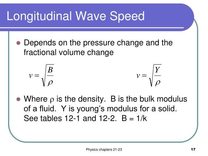 Longitudinal Wave Speed
