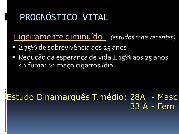 PROGNÓSTICO VITAL