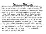 bedrock theology