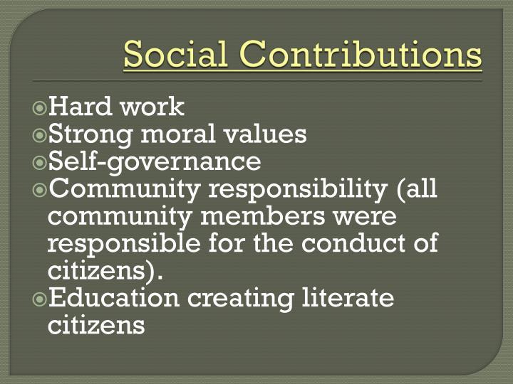 Social Contributions