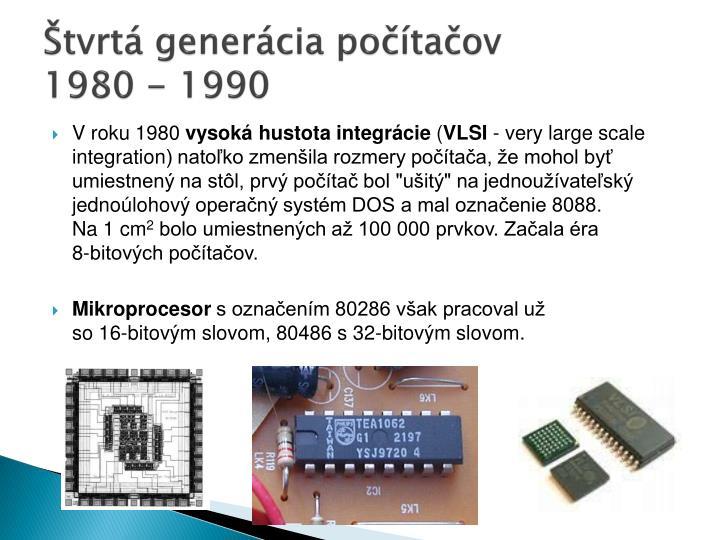 Štvrtá generácia počítačov