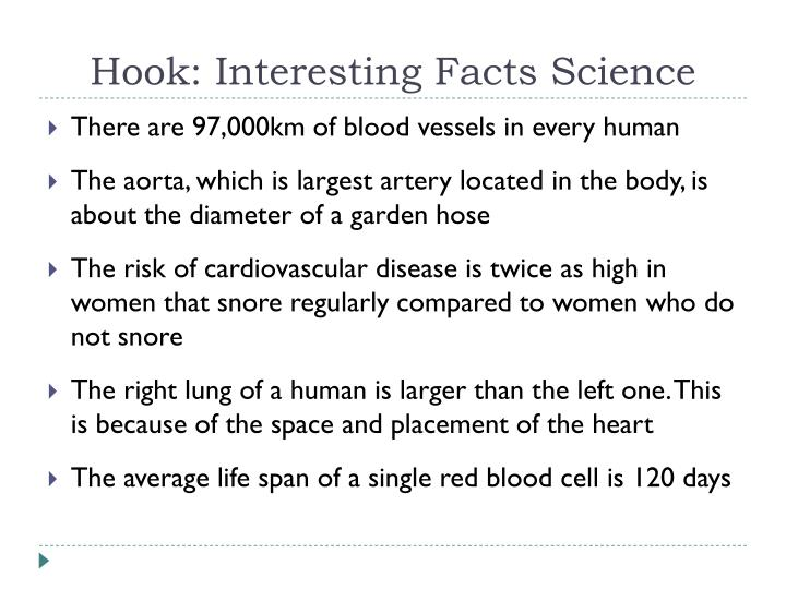hook interesting facts science n.