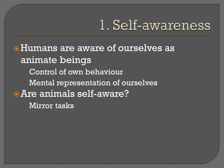 1. Self-awareness