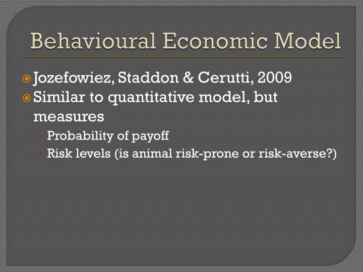 Behavioural Economic Model