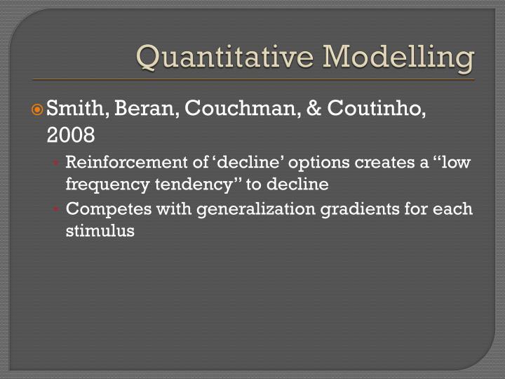 Quantitative Modelling