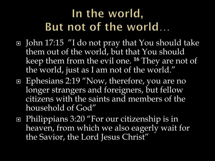 In the world,