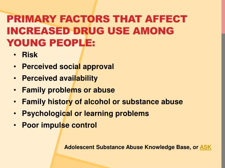 exploring factors that affects the use and abuse of alcohol The social effects of alcoholism parental alcohol abuse can cause anger and problematic alcohol use have been established as individual risk factors for.