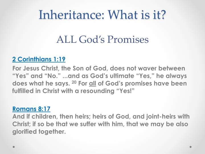 Inheritance: What is it?