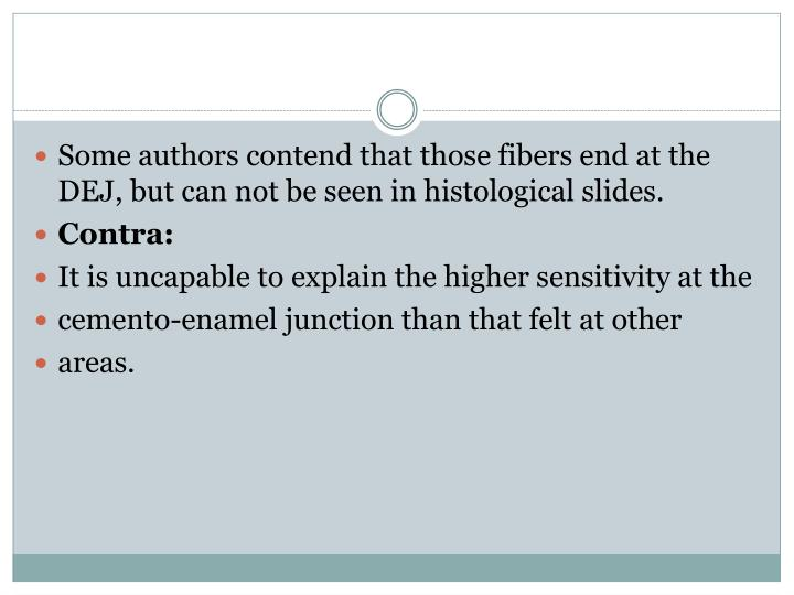 Some authors contend that those fibers end at the DEJ, but can not be seen in histological slides.