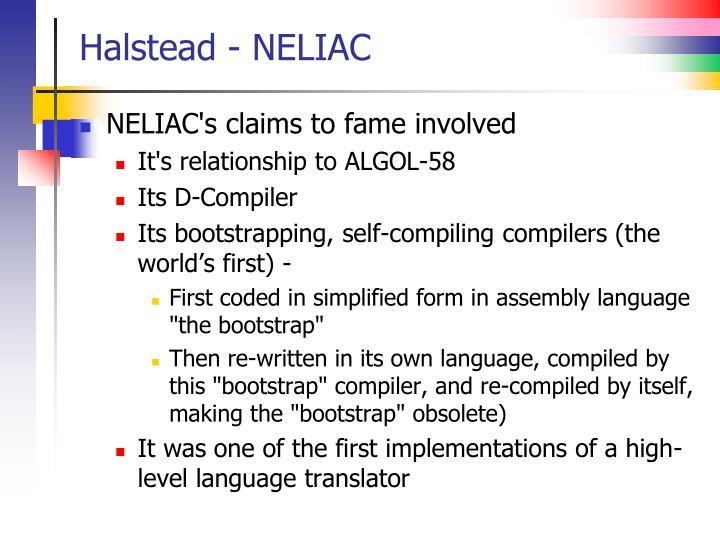 Halstead - NELIAC