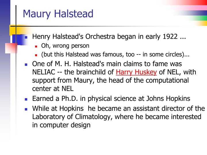 Maury Halstead
