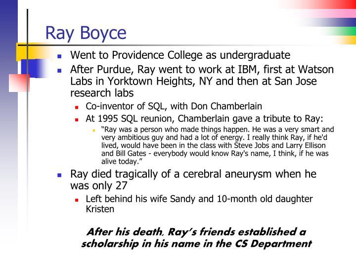 Ray Boyce