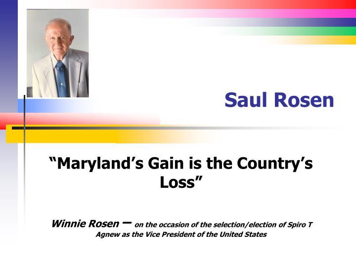 Saul rosen