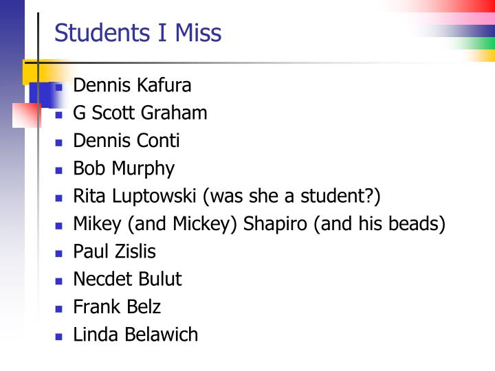 Students I Miss