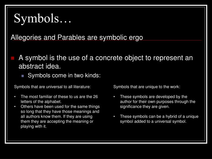 Ppt Symbols In Literature Powerpoint Presentation Id2164108